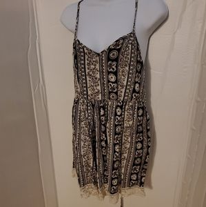 Abercrombie and Fitch brown paisley romper